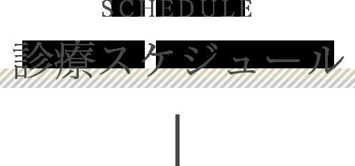 SCHEDULE 診療スケジュール